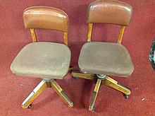 Pair of Old office swivel chairs