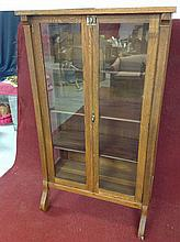 Old Antique Oak Curio Cabinet