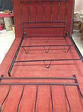 Black iron full size bedframe