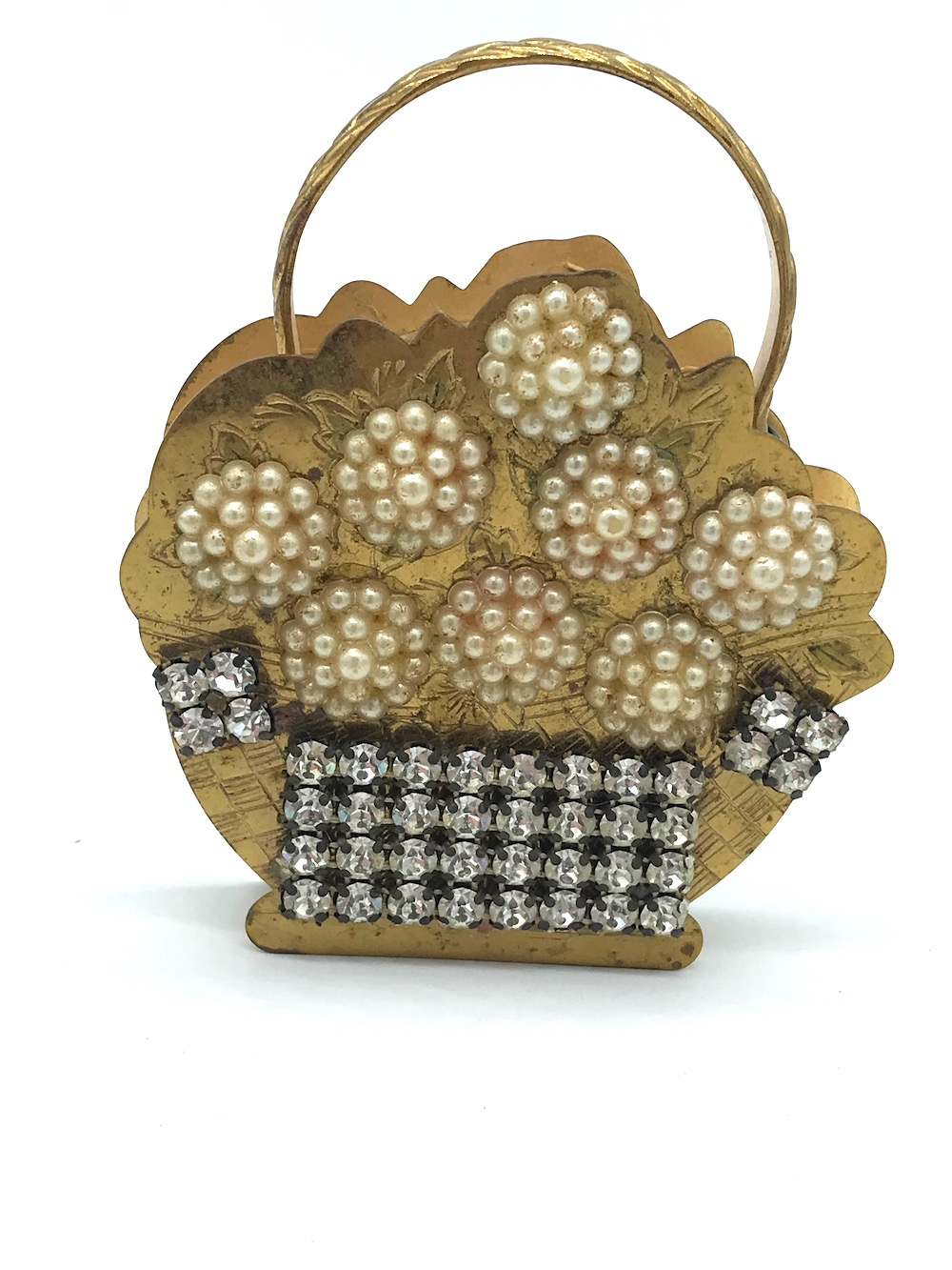 Lot 8588J: Pearl, Make Up Compact, Flower Purse 18th Century