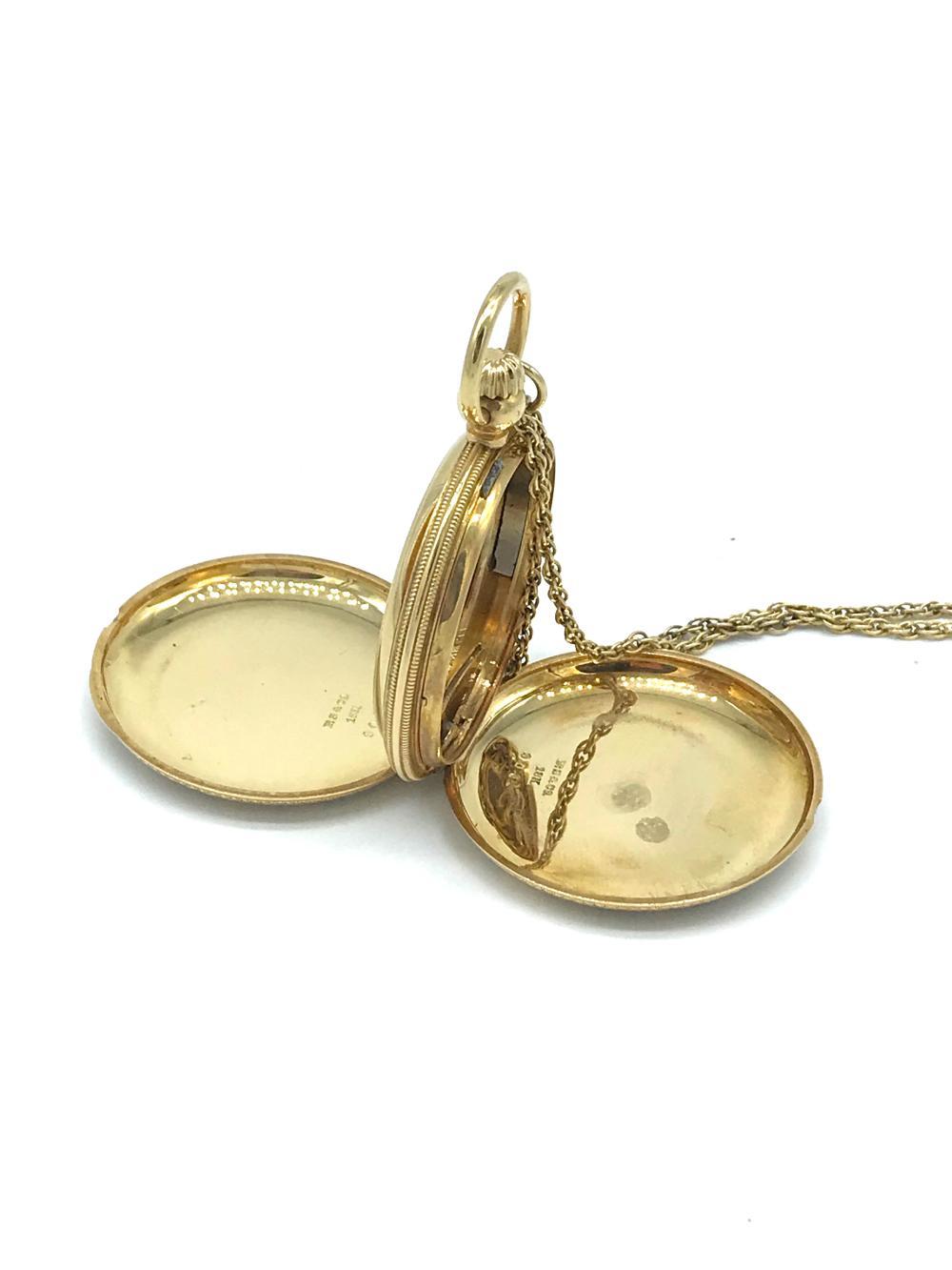 Lot 8719: Victorian, 1 OZ. Byzantine Enamel Pocket Jewelry Watch Case, Chain
