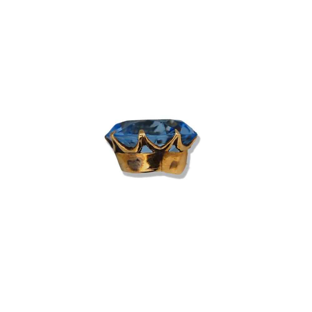 Lot 8750: Sparkling, Gold 15 carat Spinel Blue Stone, Vintage Pendant
