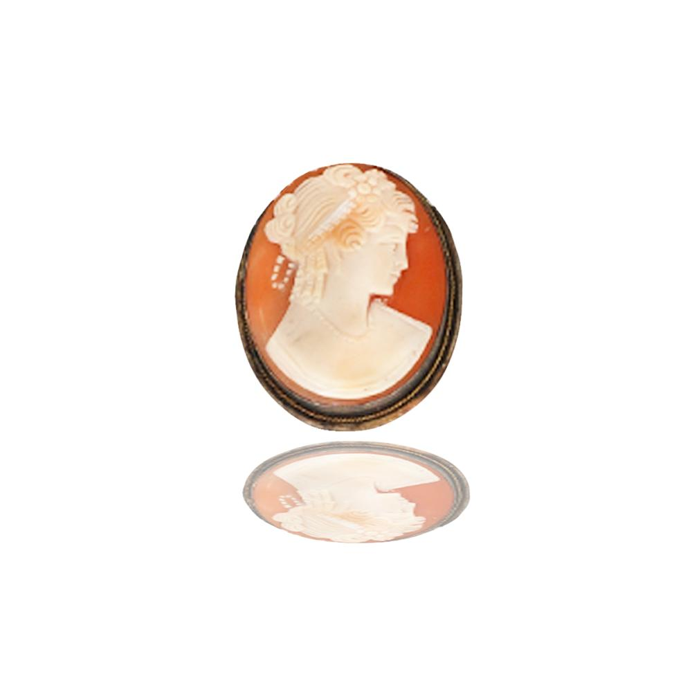 Lot 8851: Cameo Pin, Sterling Silver Circa 1850