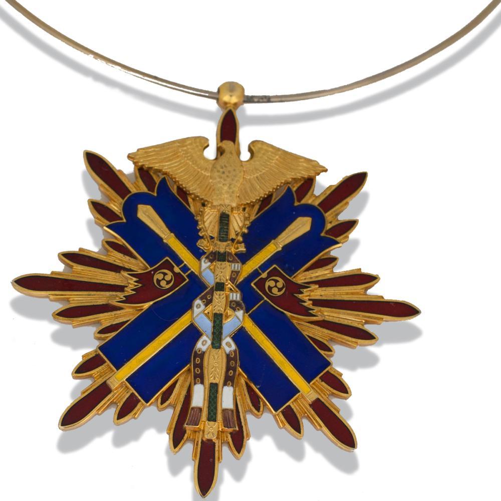 Lot 8854: Enamel, 3 Inch Chinese Signed, American Emblem Chocker