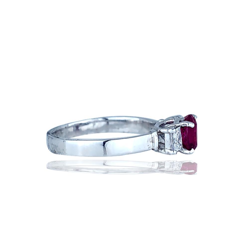 Lot 9133: Tourmaline and Diamond 3 Stone, 14 Karat White Gold 2.00 TCW Ring