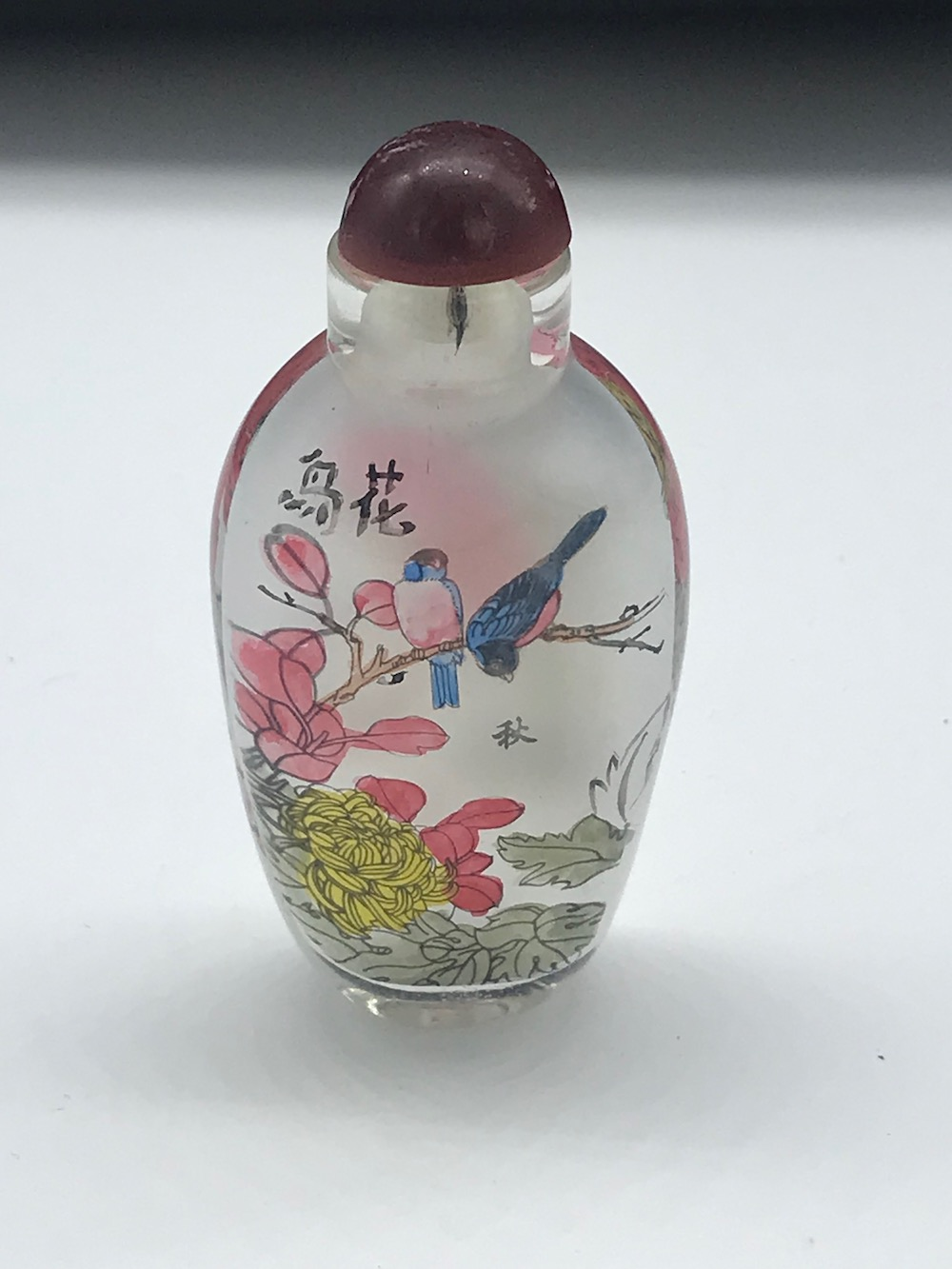 Sold Price Chinese Snuff Bottle Of Blue Jay Birds Hand Painted 3 X 1 3 4 May 6 0119 12 00 Pm Pdt