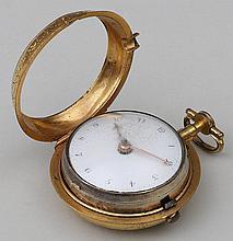 18th century English vermeil sterling silver watch
