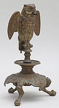 Bronze owl cigar lighter