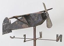 Folk Art iron airplane weathervane