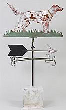 Painted sheet metal setter weathervane