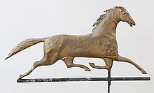 Full bodied running horse weathervane