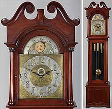 FL Wilson & Co mahogany tall case clock