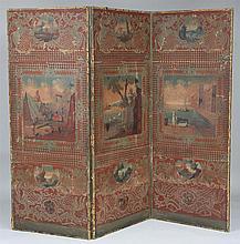 18th century three panel room divider
