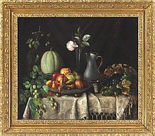 Still life with fruit (Continental School, 19th century)