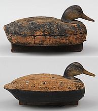 Two classic Eugene Wells Cork Black Ducks