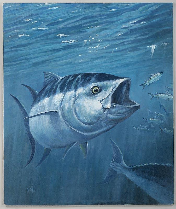 RON JENKINS (American, b.1932), blue fin tuna,