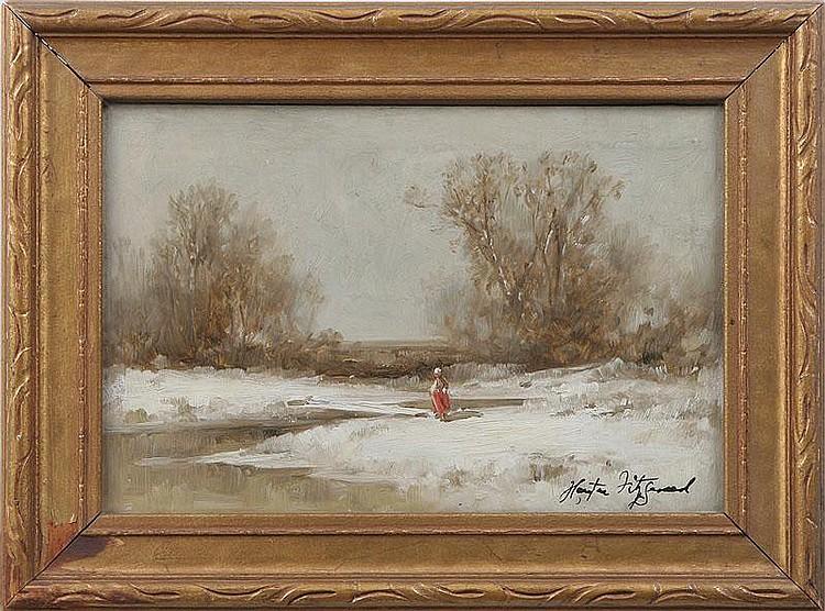 HARRINGTON FITZGERALD (American, 1847-1930), snow