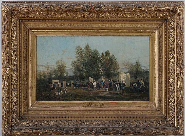 AMEDEE ELIE SERVIN (French, 1829-1885),