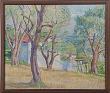 ERVIN KORMENDI-FRIM (Hungarian, 1885-1939), landsc