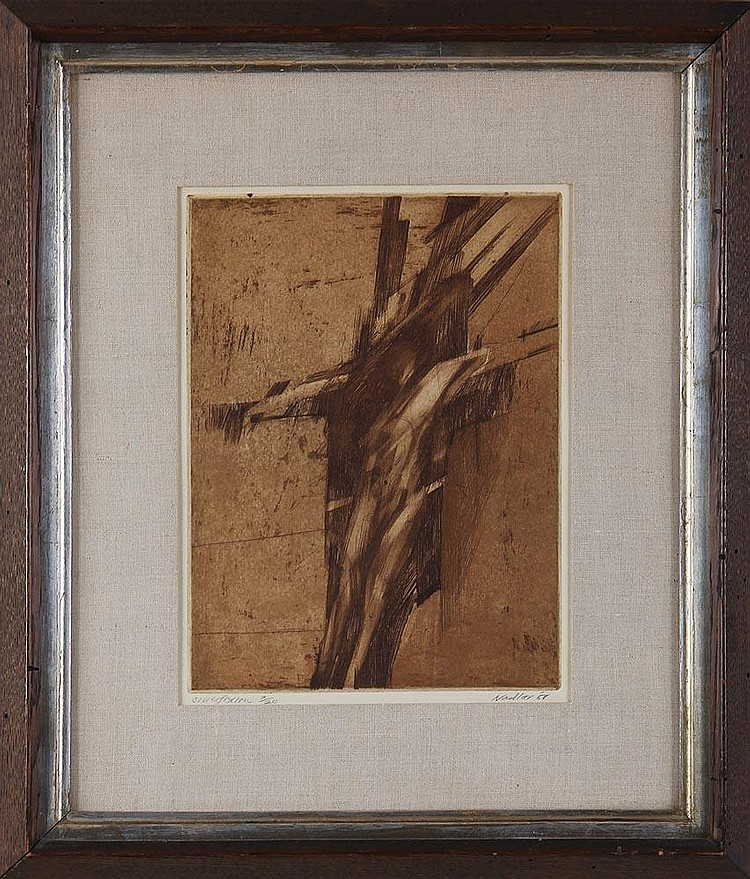 HARRY NADLER (American, 1930-1990), ''Crucifixion'