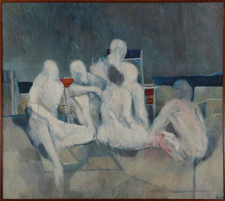 HARRY NADLER (American, 1930-1990), ''The Bathers'