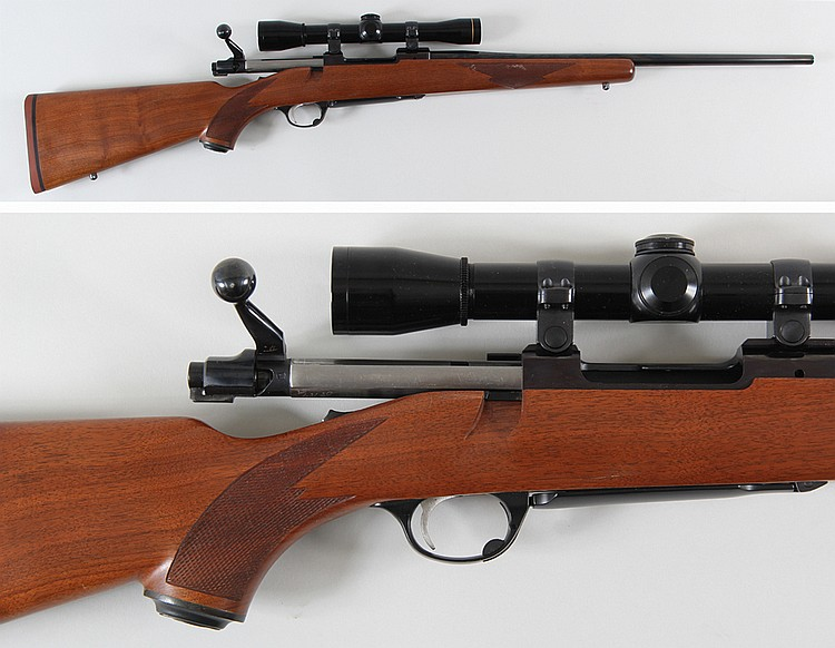 Ruger M77 Bolt Action rifle in 243 Win  with Leupold scope