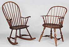 Group of (2) American Windsor chairs