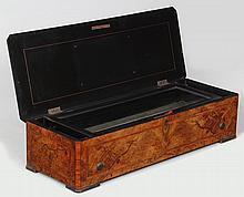 Swiss music box having 17-1/4'' cylinder