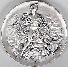 .999 silver Victor David Brenner medel