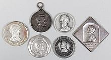 Group of (6) silver Abraham Lincoln medals