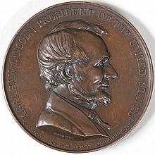 1865 Abraham Lincoln Emancipation of Slavery medal