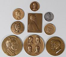 Large group (9) Lincoln bronze medals