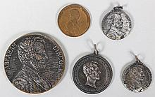 Group of (5) Lincoln medals