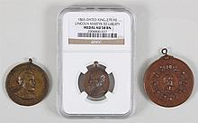 Group of (3) Lincoln bronze medals