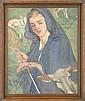 LOUISE D'AUSSY PINTAUD (19/20C), shepherdess, Louise D'Aussy Pintaud, Click for value