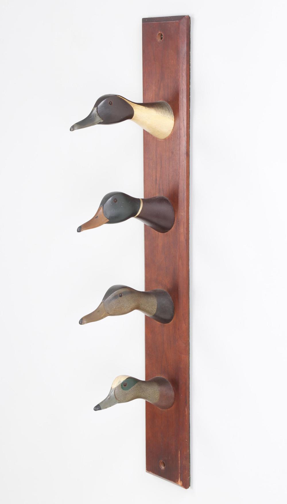 Duck head rack, Wildfowler Decoy Company