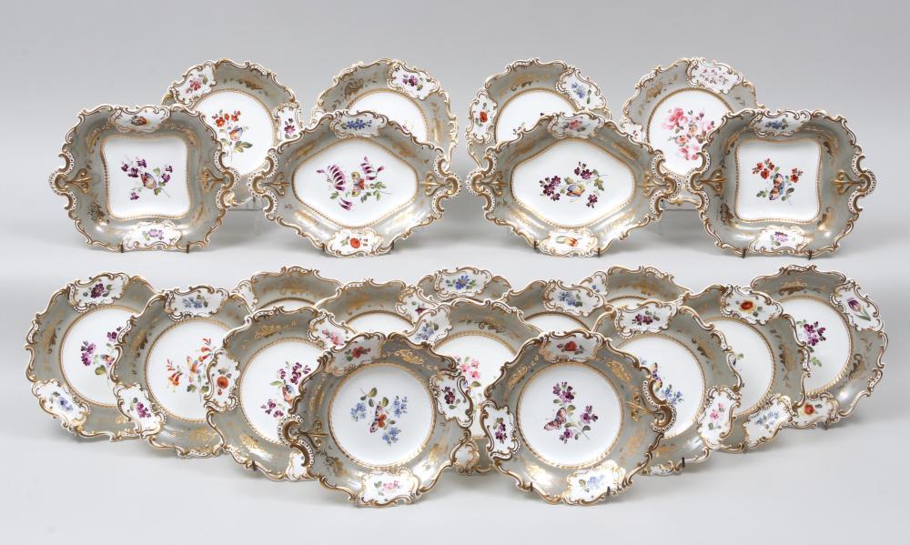 Rockingham porcelain dessert service