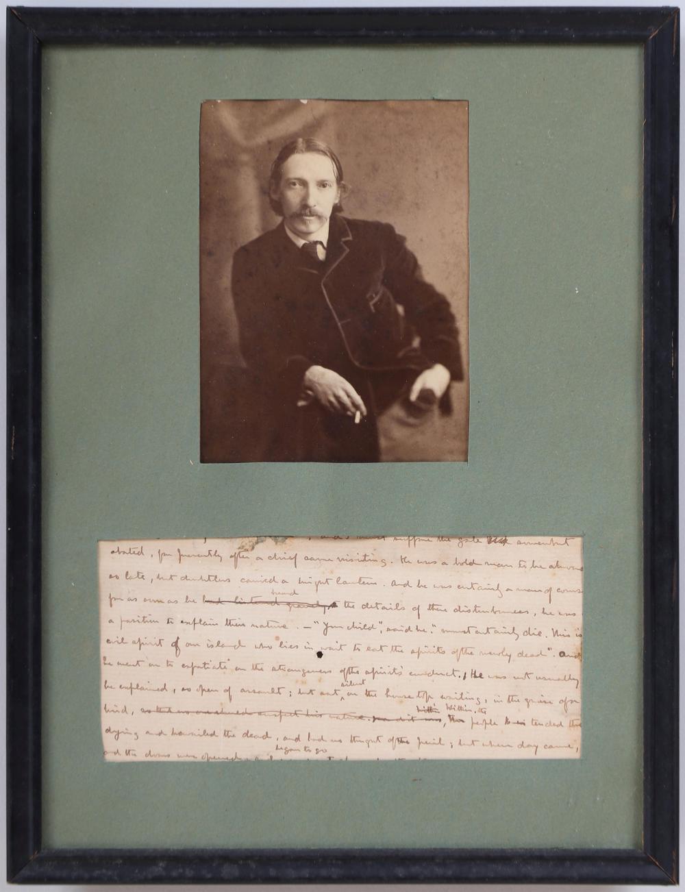ROBERT LOUIS STEVENSON autograph manuscript