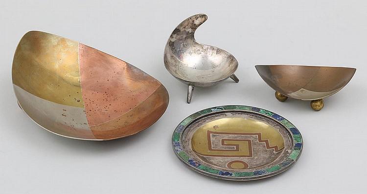 Copper Signed Metales Casades Mexico Metal Bowl Married Metals Gold Metals Brass Silver Possible Chato Los Castillos