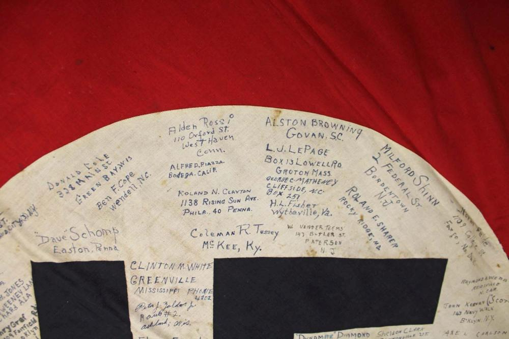 Wwii German Large Fringed Wall Or Podium Banner Signed By Me