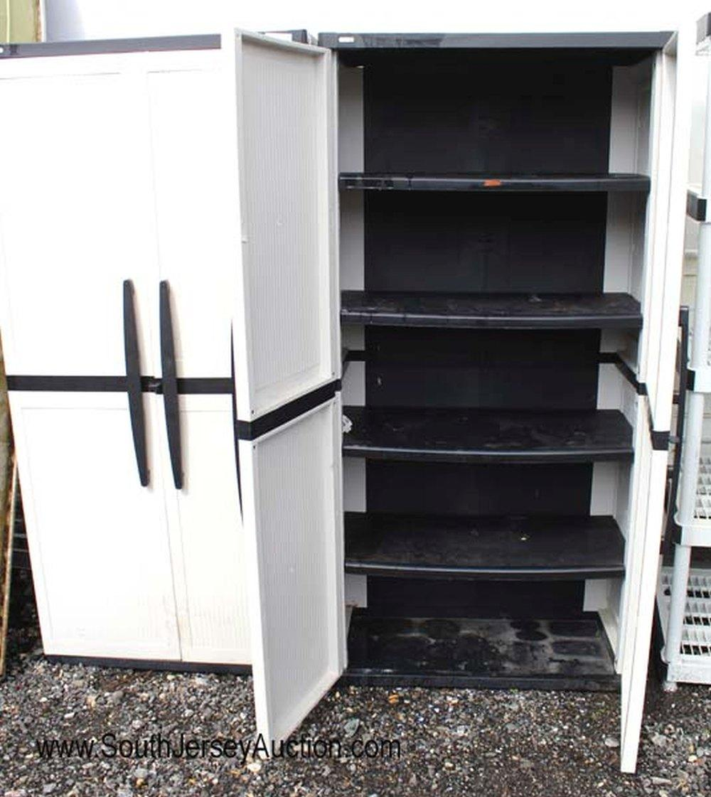 Sold Price Like New Enviro Elements Pair Of Nice Pvc 2 Door Storage Cabinets Invalid Date Edt