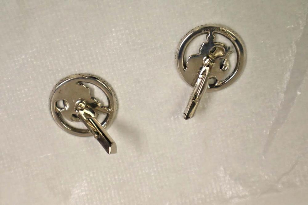 Pair of sterling cufflinks