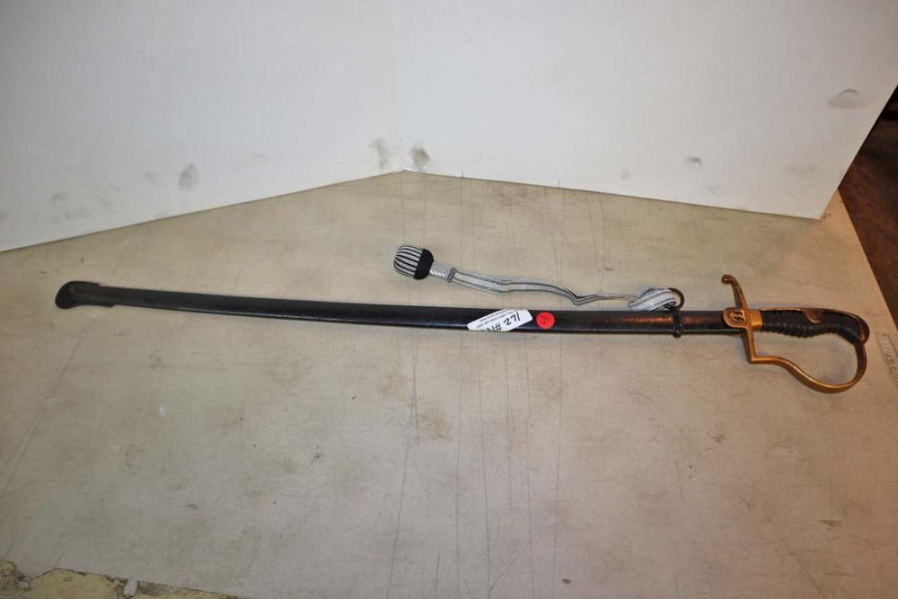 German style military sword in sheath