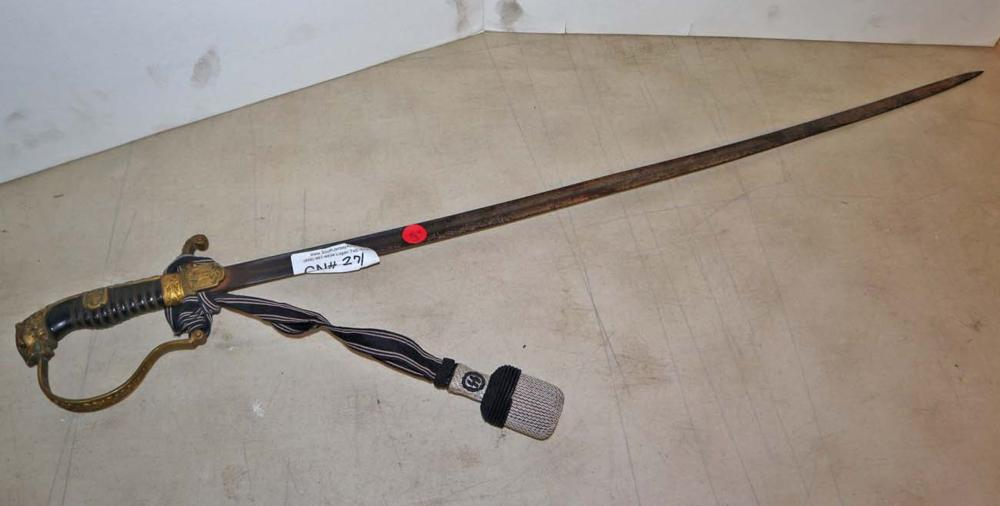 German style military ceremonial sword
