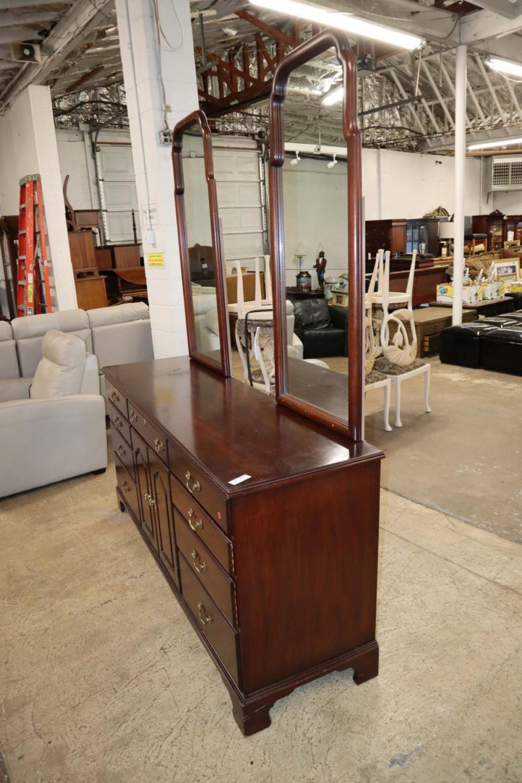 Henkel Harris mah 9 drawer dresser w/mirrors