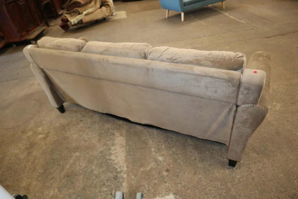 Contemporary brown upholstered sofa