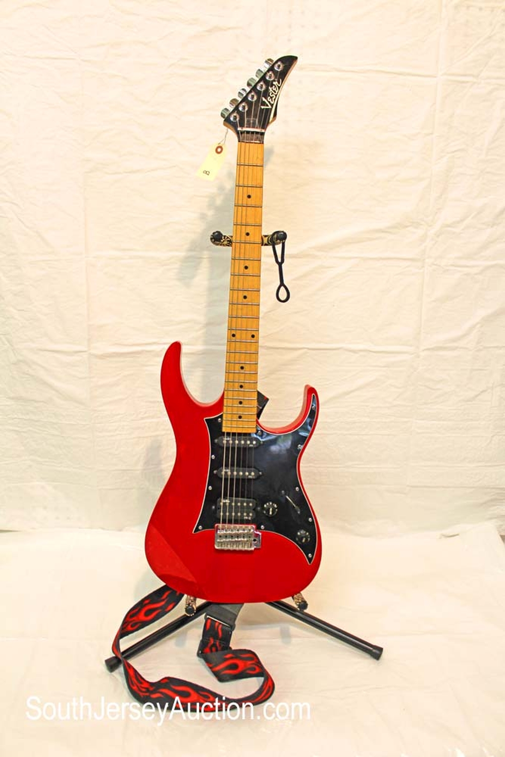 1980's Vester lawsuit guitar - rare - made for a short period of time, with maple neck,  and  strap,  s/n 12899, all original, very good condition
