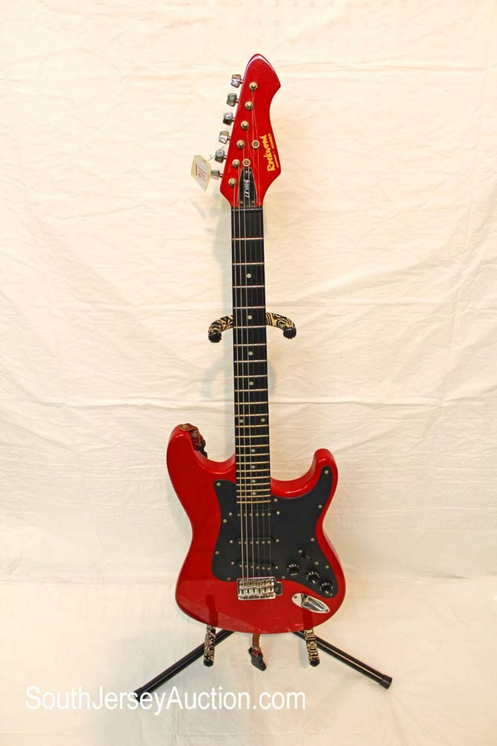 1980's Rockwood by Hohner, model LX100G guitar, made in Korea, red color, triple original pickups, (no strap) in fair condition