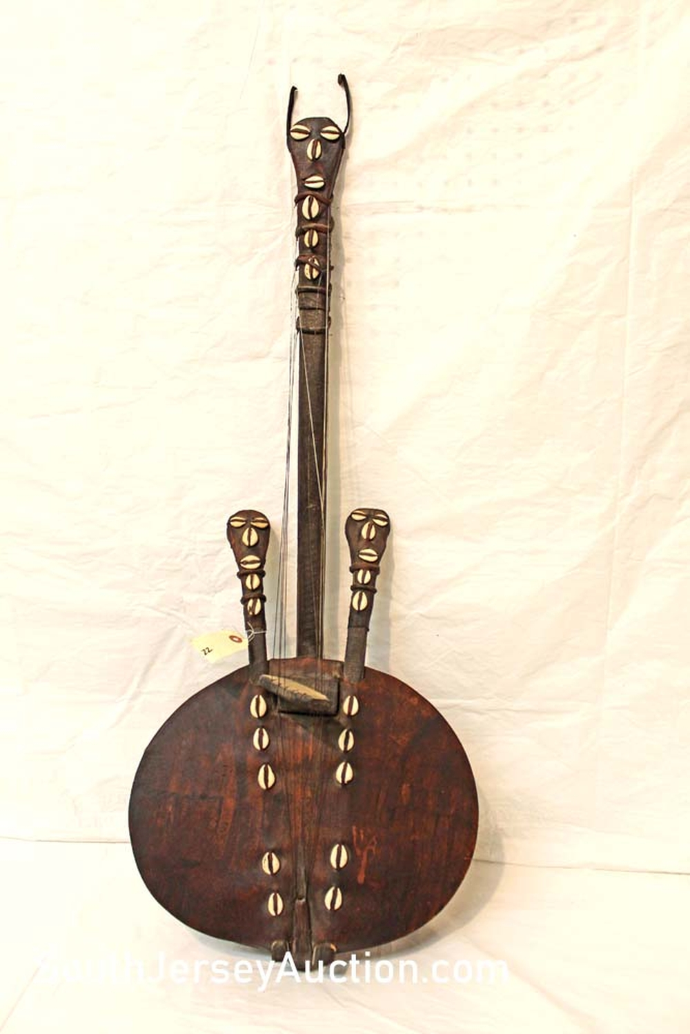 Primitive African Gourd Tribal Musical String Item good condition