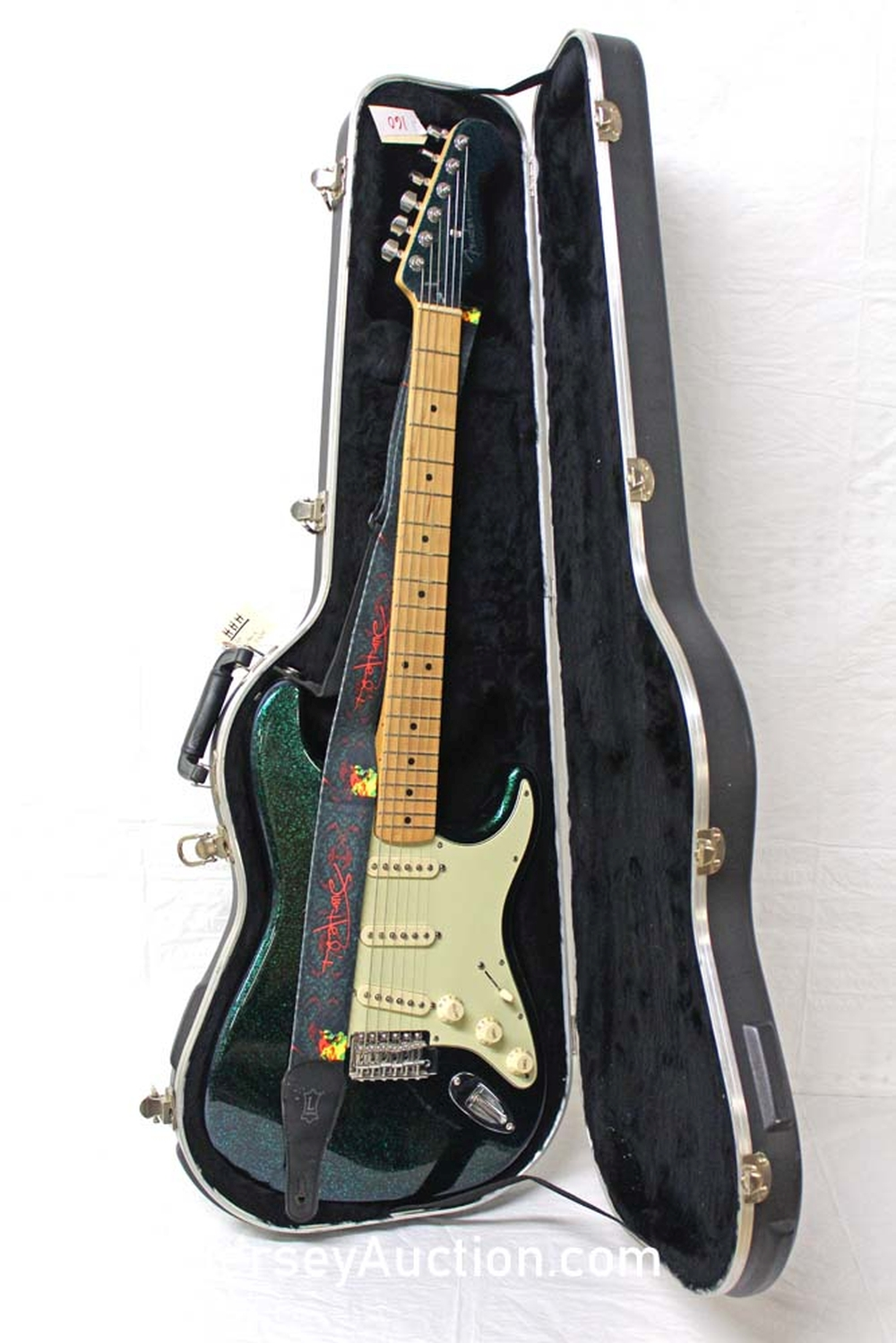 2004 Fender Special Run, Stratocaster, Made in Mexico, Flip Flop Finish in the Green (made for couple of months), single single single, painted head stock, maple neck, s/n mz4103660, with hard case, perfect - excellent condition